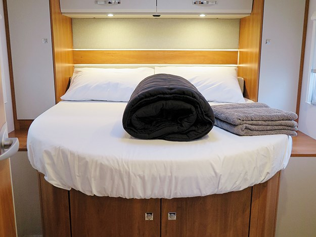 The island bed can be easily lengthened